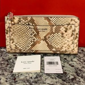 NWT Authentic Kate Spade L-Zip Continental Wallet